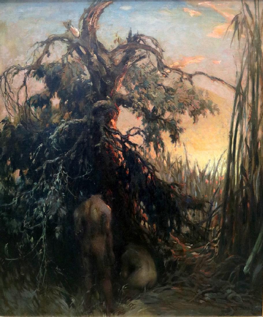 """Lajos Louis Jambor (Hungarian 1884-1955) """"Primitive"""