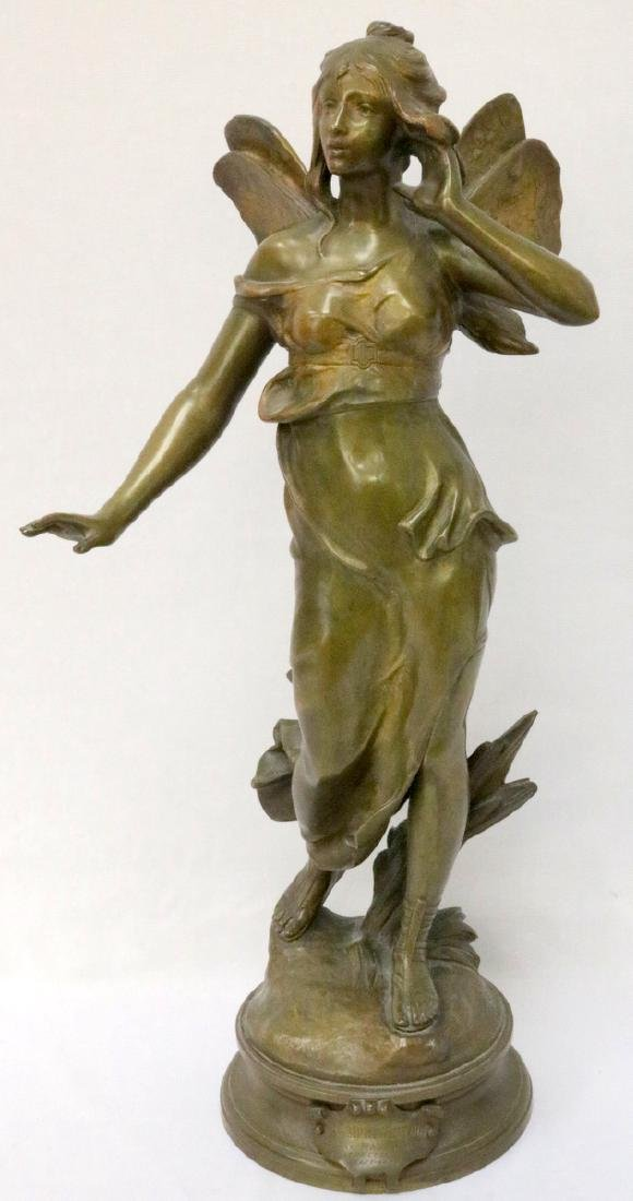 "Early 20th C. French ""Nymph"" Bronze Sculpture"