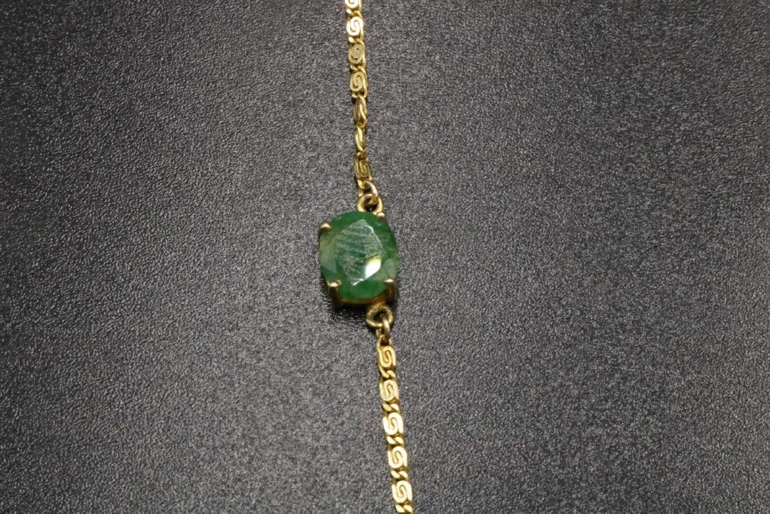 18Kt YG Emerald Necklace - 2