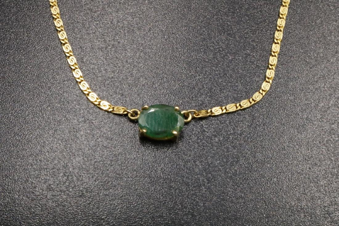 18Kt YG Emerald Necklace - 3