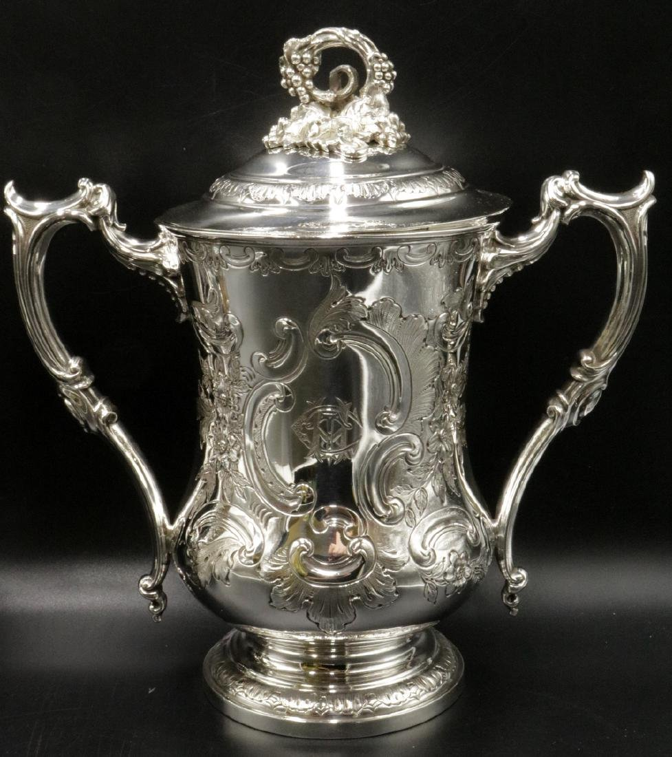 19th C. Elkington & Co. Silver Plated Covered Urns - 3