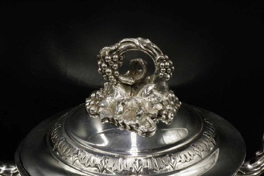 19th C. Elkington & Co. Silver Plated Covered Urns - 5