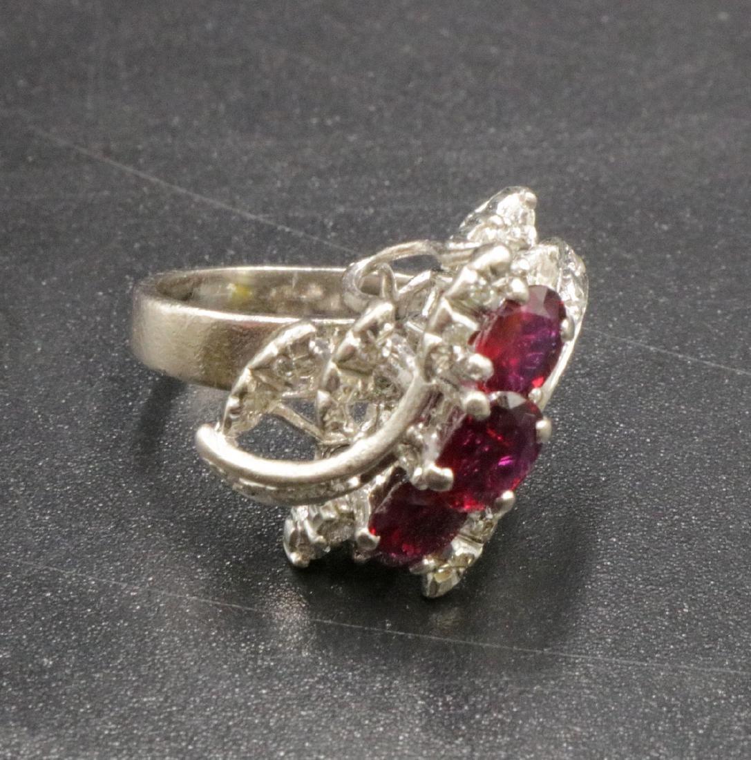 18Kt WG Ruby & Diamond Ring
