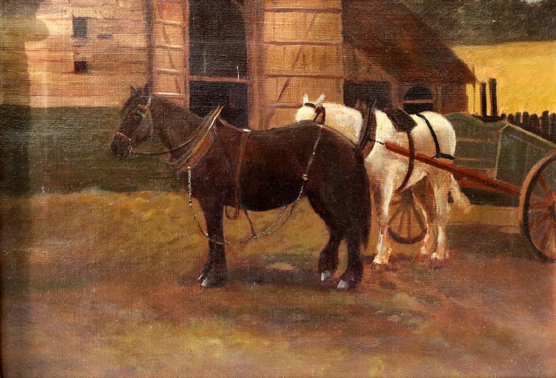Late 19th C. English Oil Painting on Canvas
