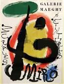 "Joan Miro ""Galerie Maeght"" Lithograph"