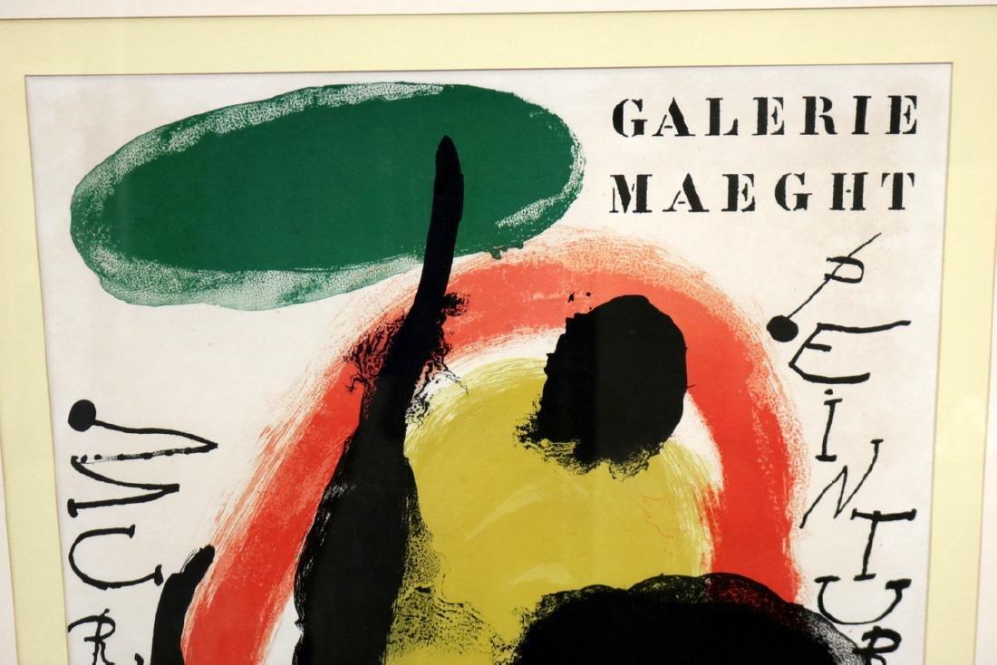 "Joan Miro ""Galerie Maeght"" Lithograph - 2"