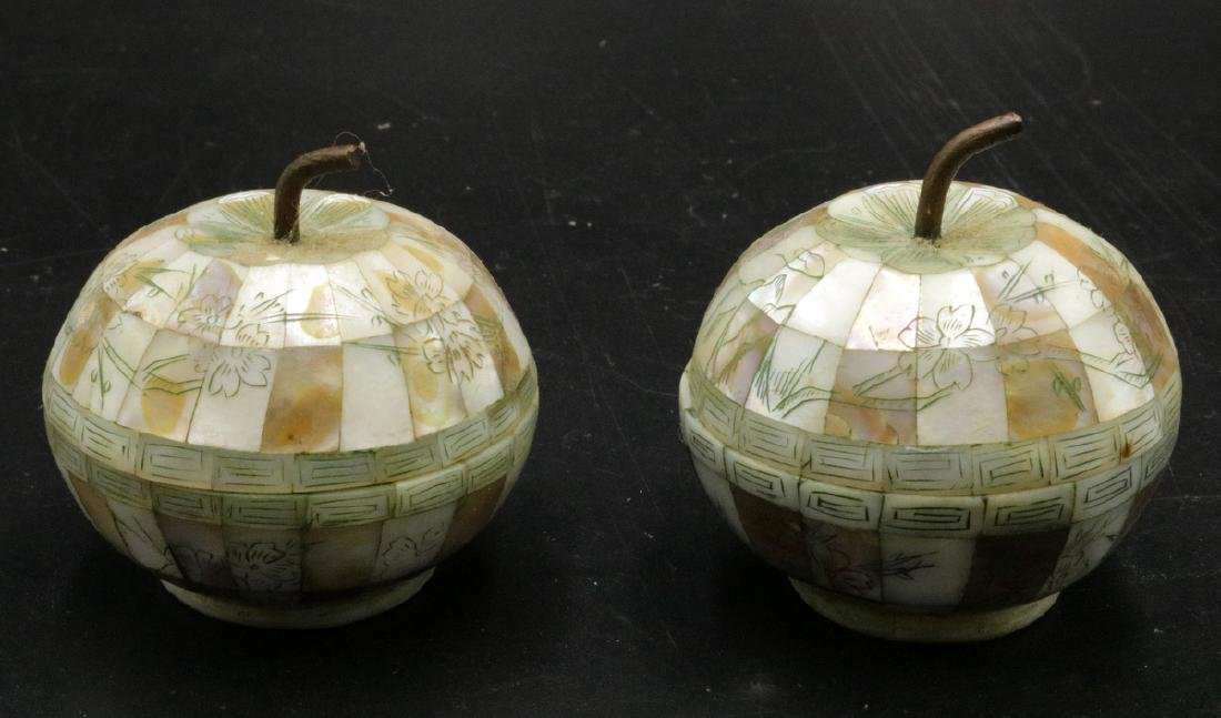 Vintage Chinese Mother of Pearl Apples