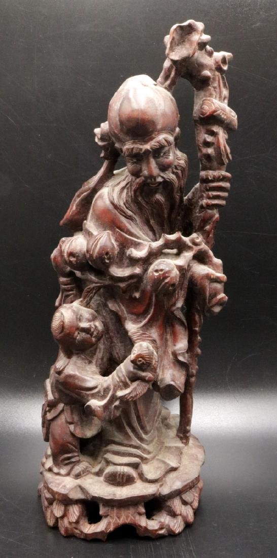 Chinese Carved Wooden Group
