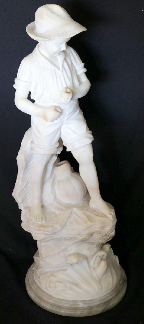 Early 20th C. American Carved Alabaster Sculpture