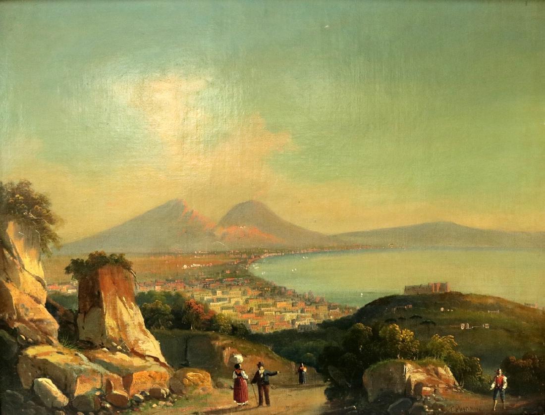 Late 19th C. European Oil on Canvas