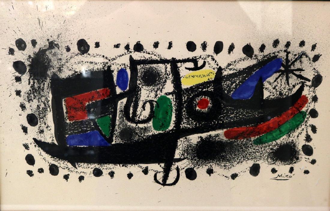 """Joan Miro """"Star Scene"""" Lithograph"""