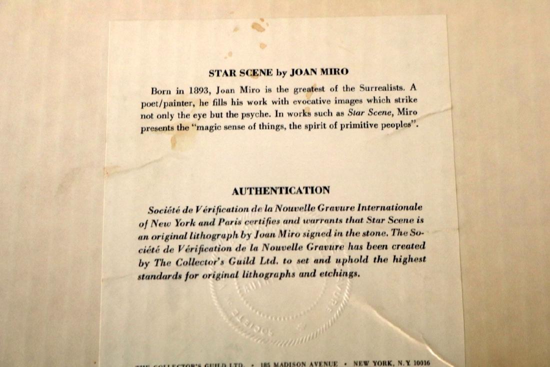 """Joan Miro """"Star Scene"""" Lithograph - 4"""