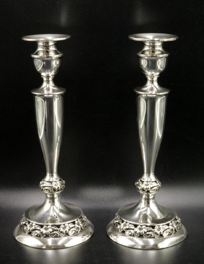 Mueck Carey Co. Sterling Silver Candle Sticks