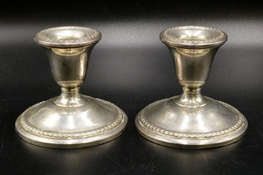 Pair of Rogers Weighted Sterling Candlesticks