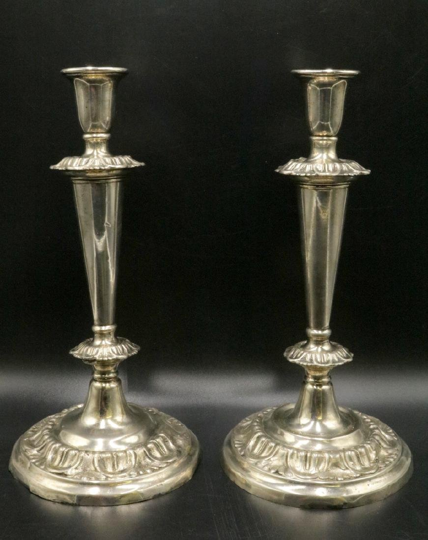 Antique Weighted Sterling Candlesticks