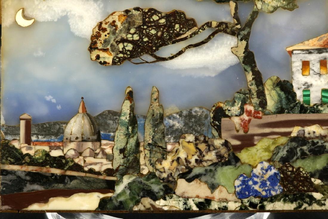 Antique Italian Mosaic Miniature Plaque