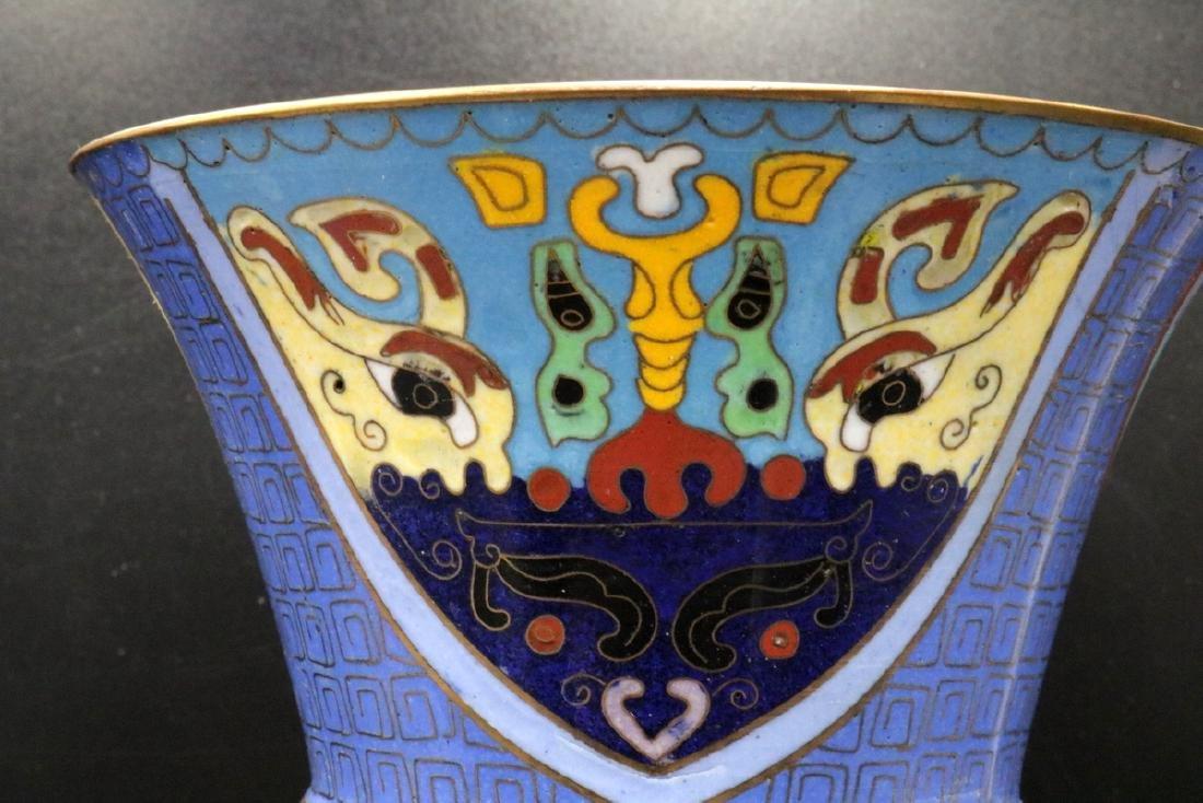Pair of Vintage Chinese Cloisonne Vases - 5