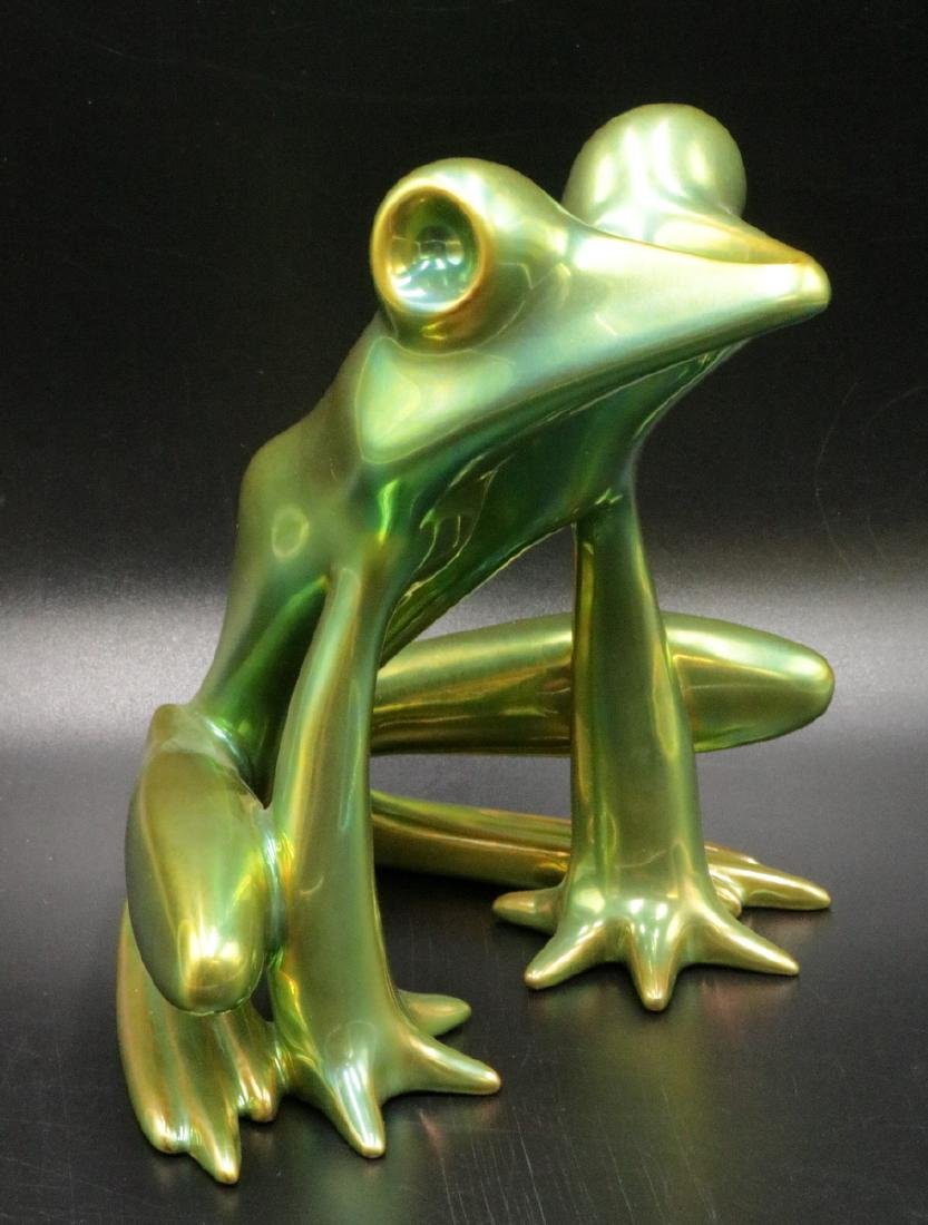 Zsolnay Hungary Iridescent Pottery Frog