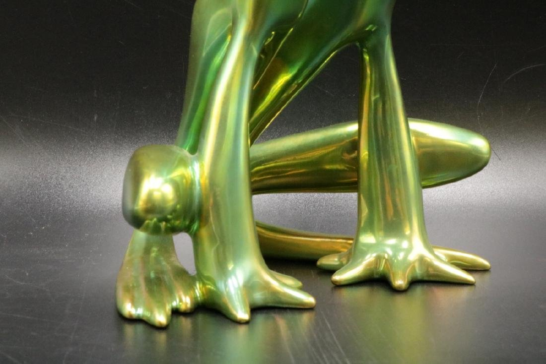 Zsolnay Hungary Iridescent Pottery Frog - 3