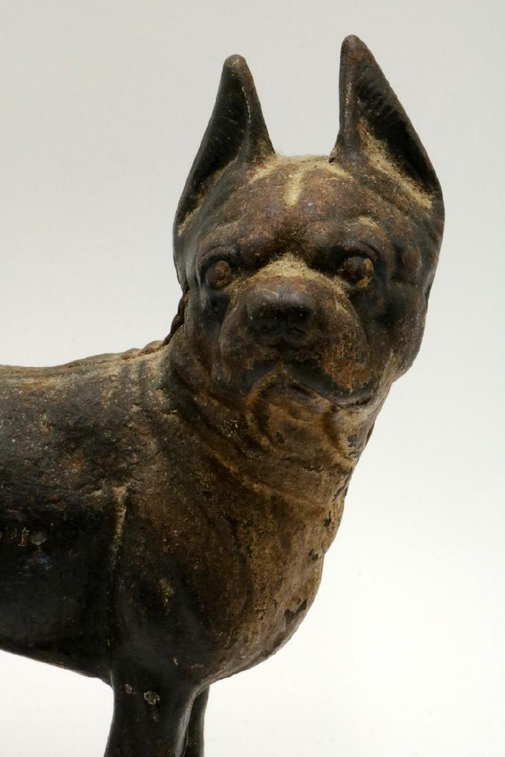 Antique Hubley Cast Iron Boston Terrier Door Stop - 2