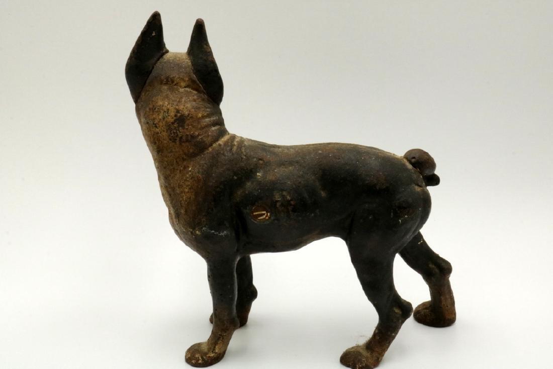 Antique Hubley Cast Iron Boston Terrier Door Stop - 4