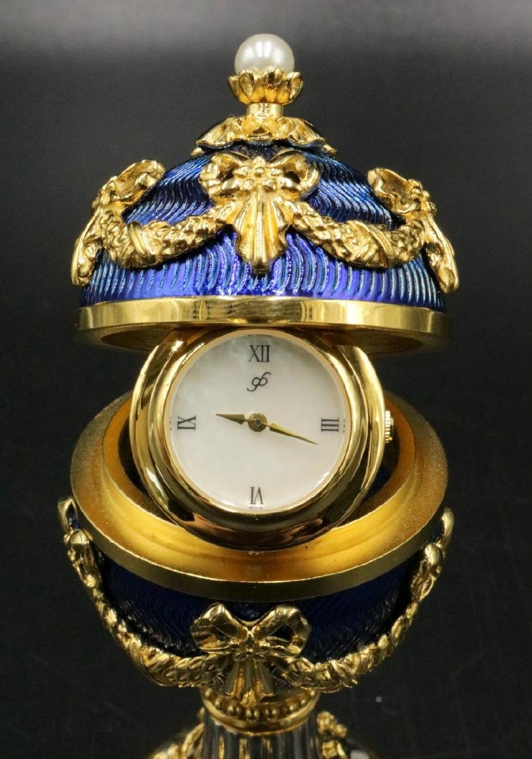 House of Faberge, Franklin Mint Imperial Heirloom Clock - 4