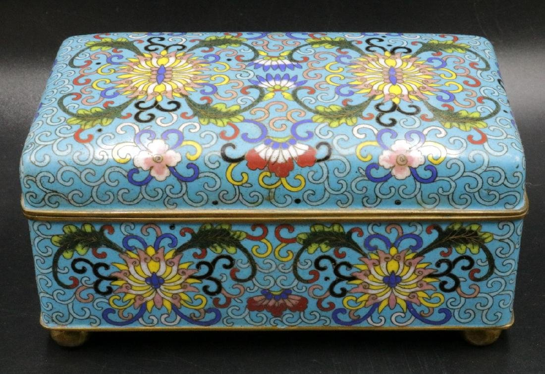 Vintage Chinese Cloisonne Covered Box