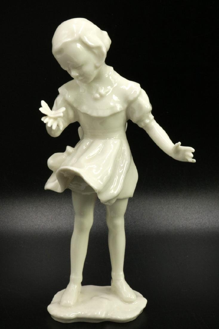 Hutschenreuther German White Porcelain Girl Figurine