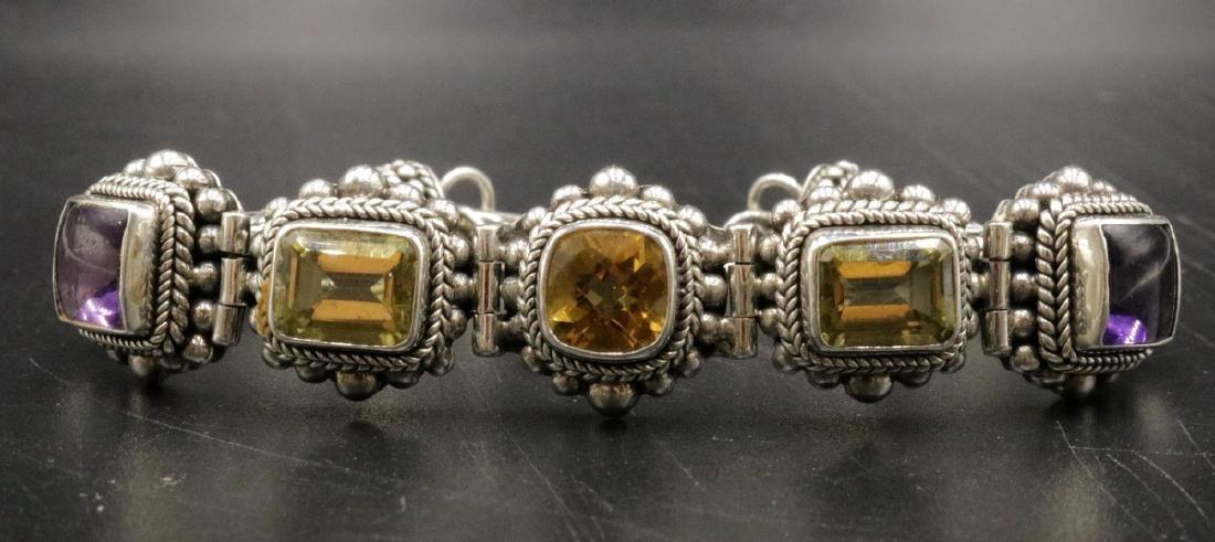 Sterling & Semi-Precious Stone Bracelet