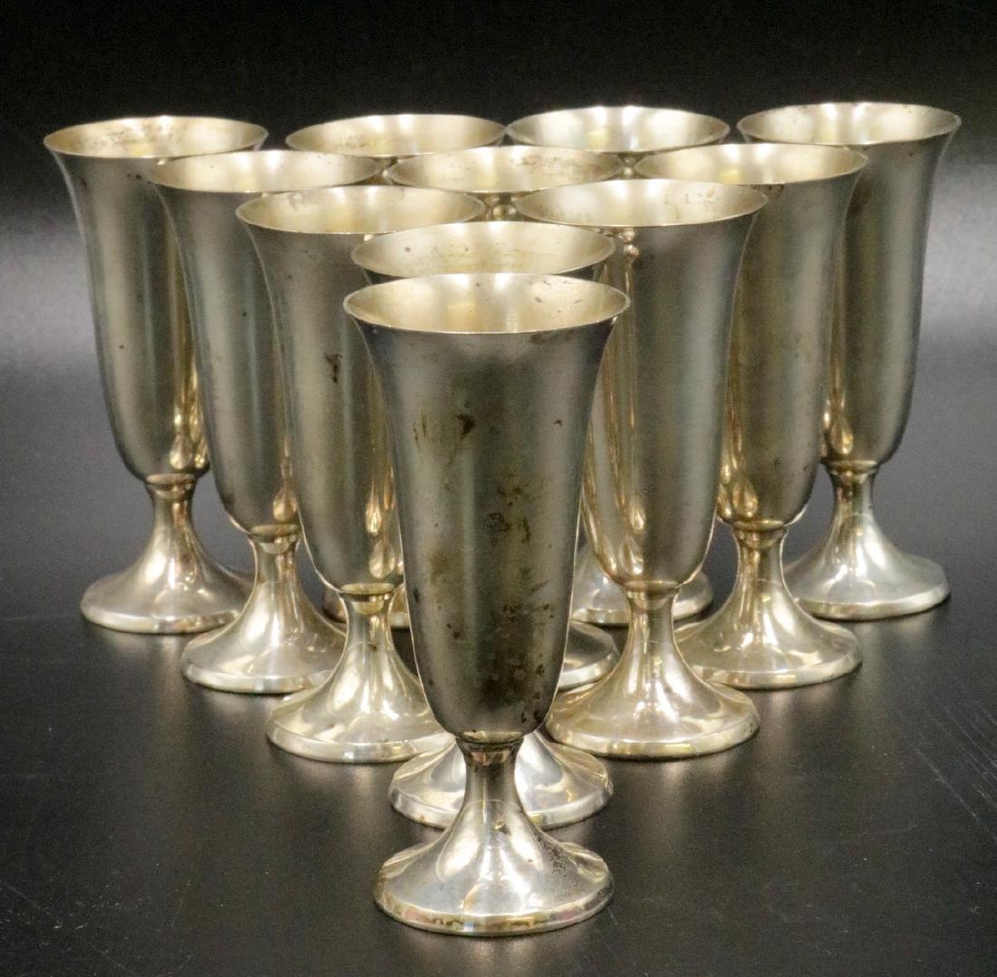 11 Pc. Gorham Sterling Silver Cordials