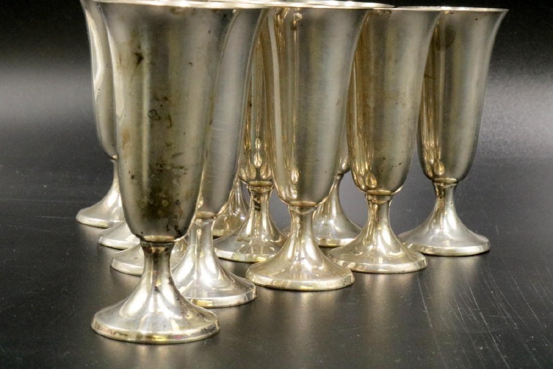 11 Pc. Gorham Sterling Silver Cordials - 2