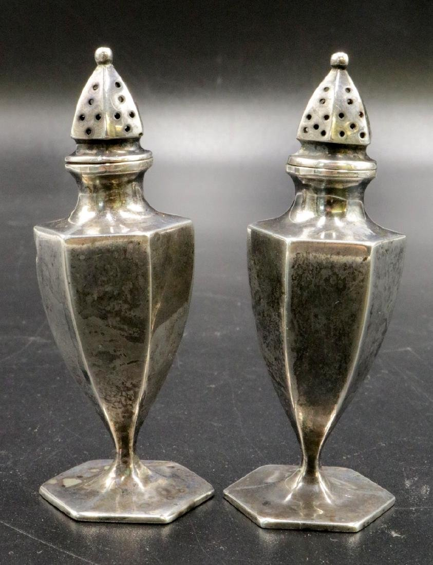Antique Sterling Salt & Pepper Shakers