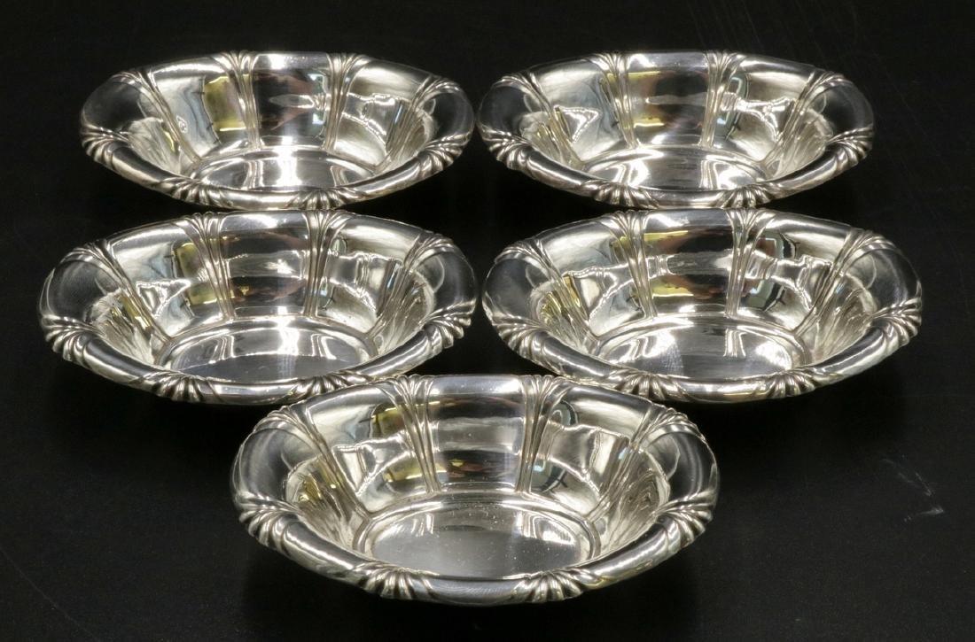 5 Pc. Gorham Sterling Salt Cellars