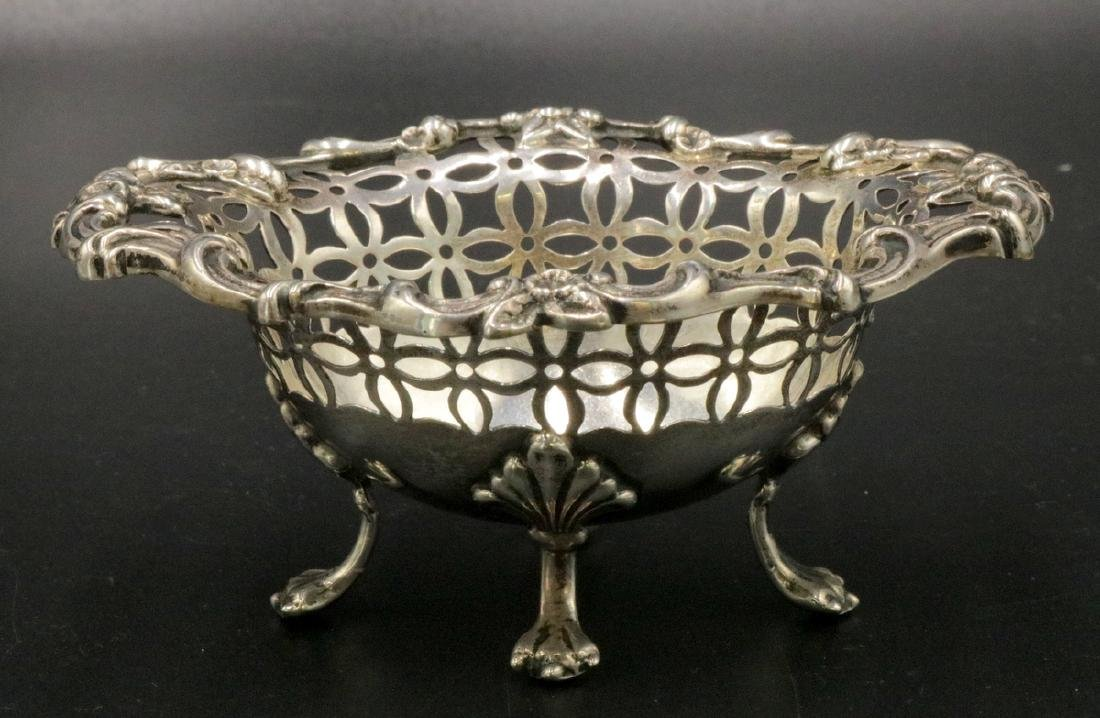 Reticulated Sterling Footed Salt Cellar