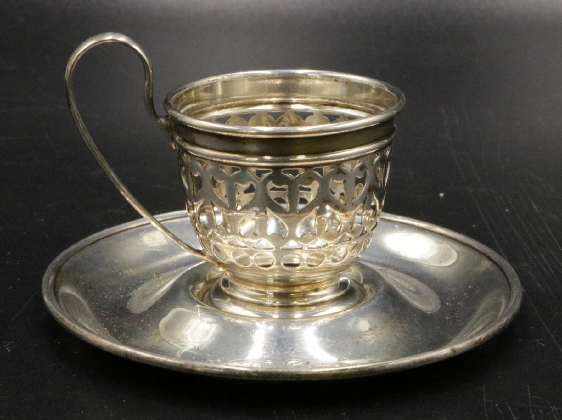 Gorham Sterling Demi-Tasse Cup & Saucer