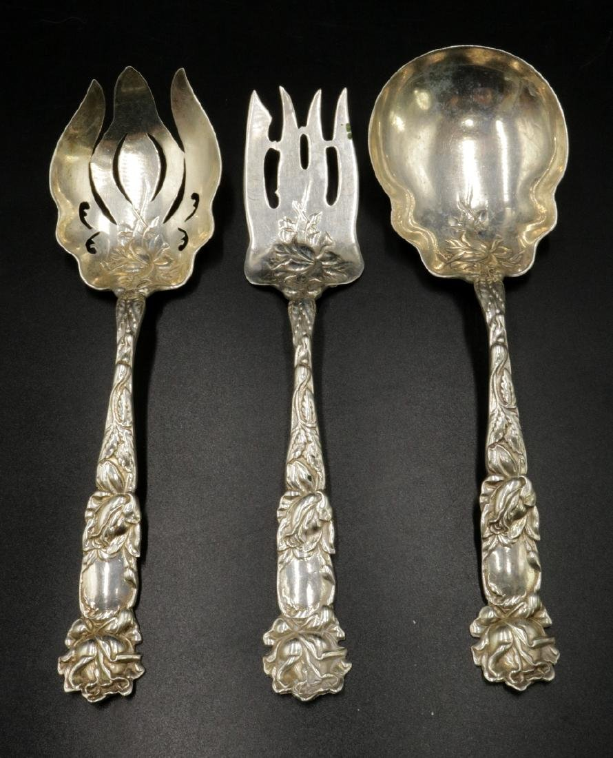 3 Pc. Sterling Silver Floral Serving Pieces