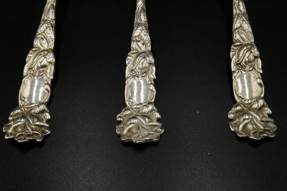 3 Pc. Sterling Silver Floral Serving Pieces - 3