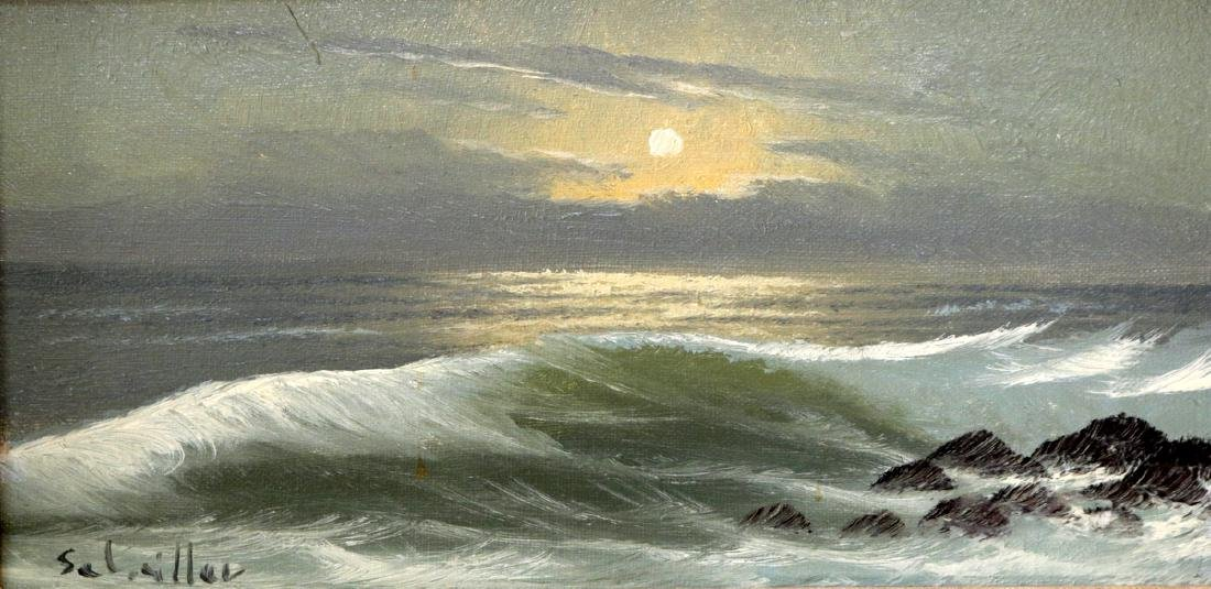 Signed Seascape Oil Painting on Canvas