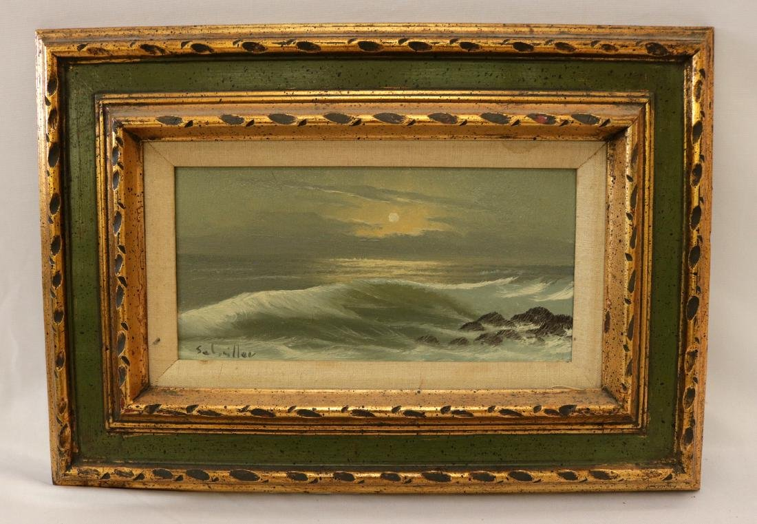 Signed Seascape Oil Painting on Canvas - 2