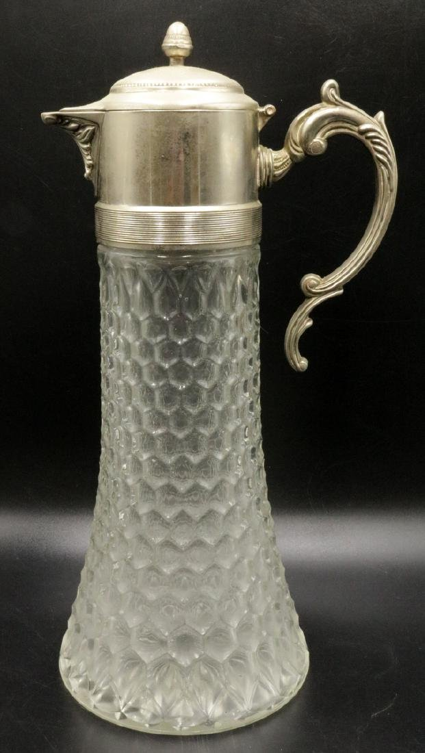 Silver Plated & Molded Glass Pitcher