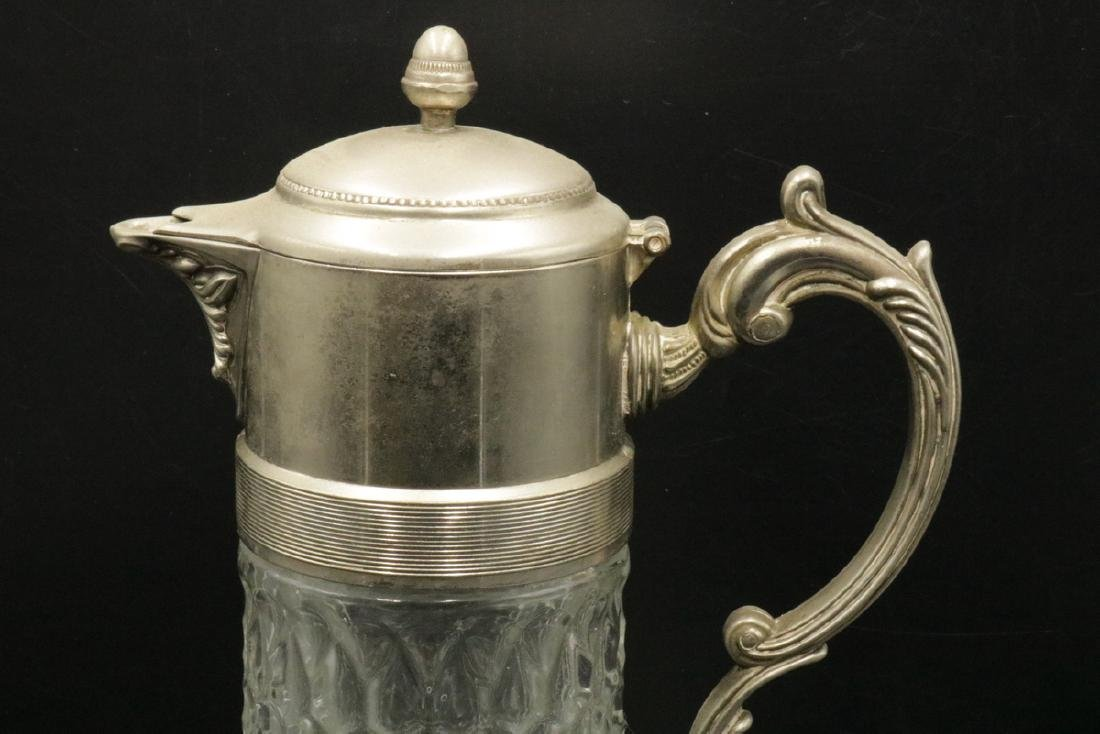 Silver Plated & Molded Glass Pitcher - 2