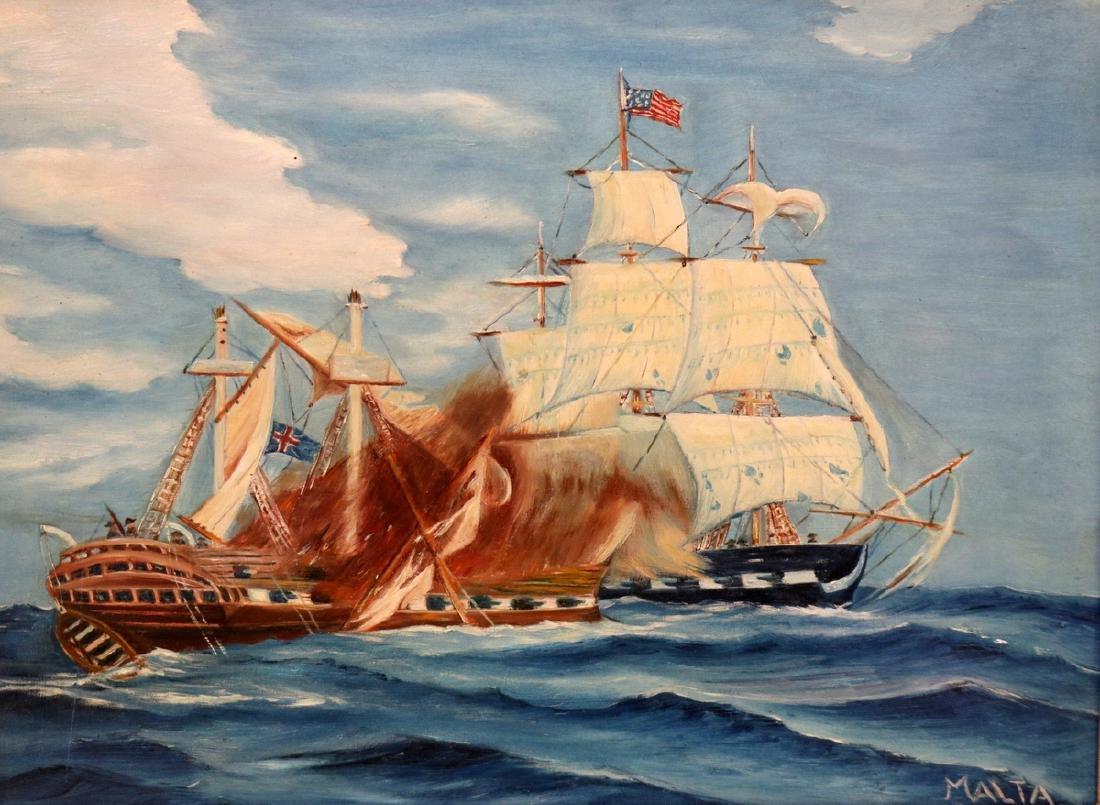 Michael M. Malta Oil on Board
