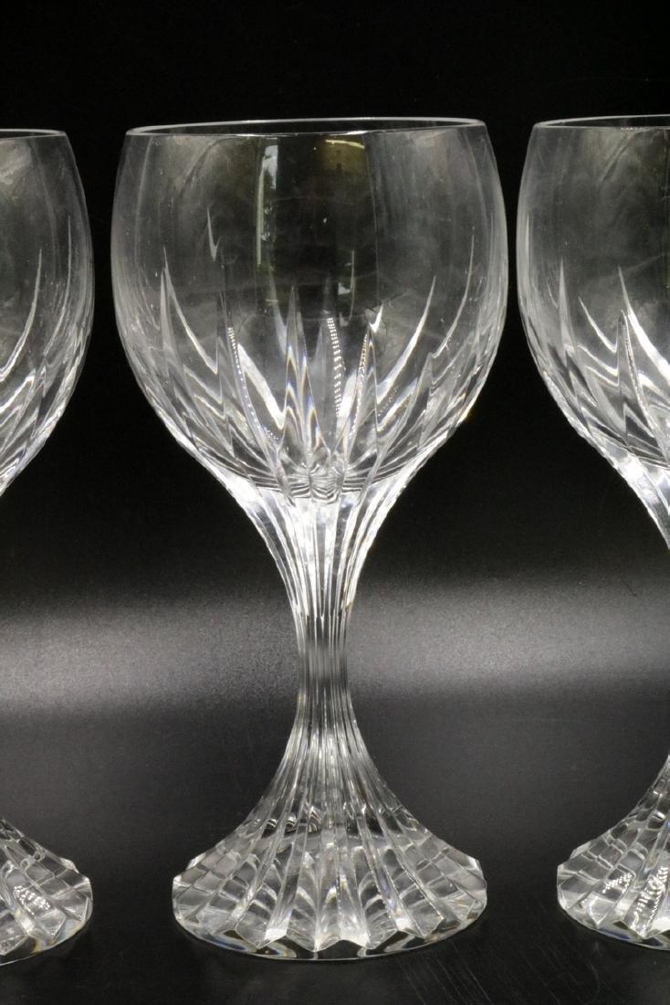 "3 Pc. Baccarat ""Massena"" Crystal White Wine Glasses - 2"