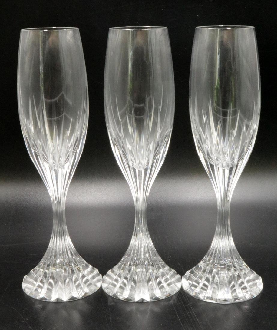 "3 Pc. Baccarat ""Massena"" Crystal Champagne Flutes"