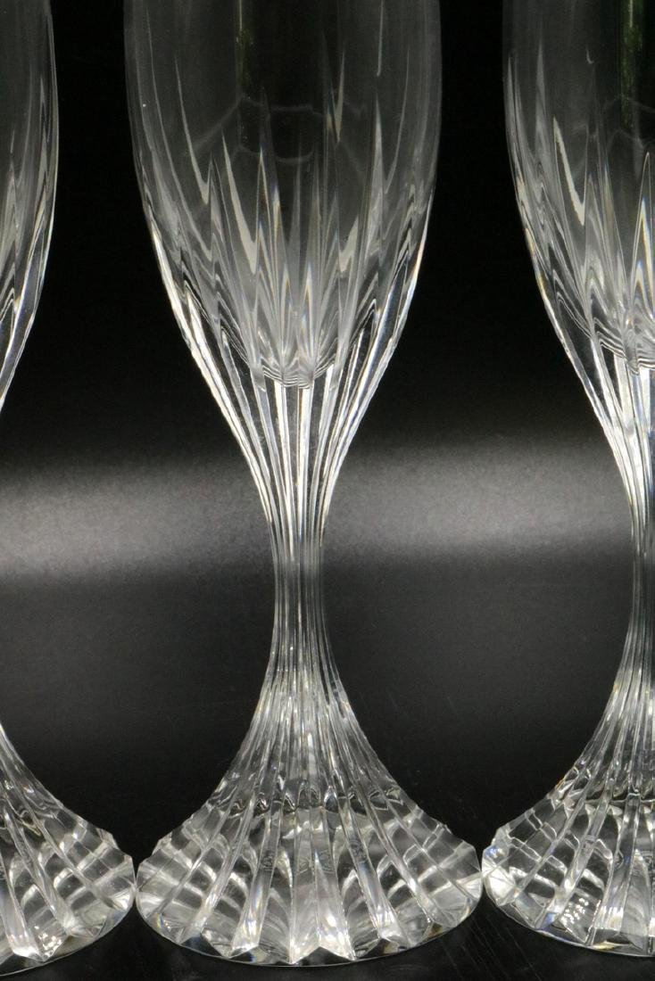 "3 Pc. Baccarat ""Massena"" Crystal Champagne Flutes - 2"