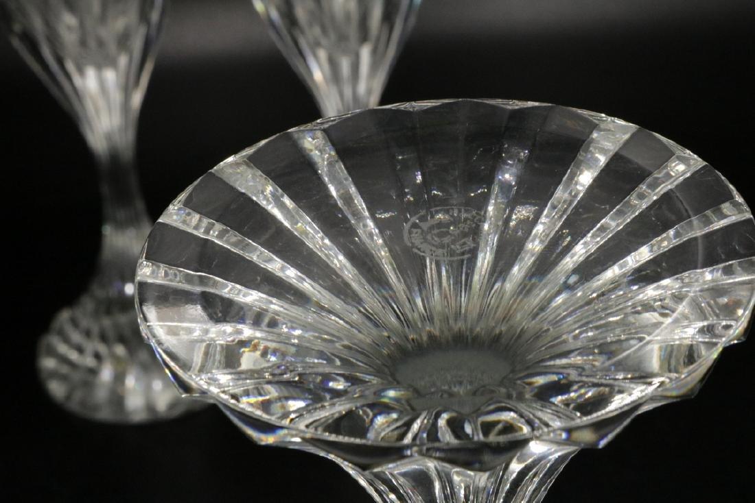 "3 Pc. Baccarat ""Massena"" Crystal Champagne Flutes - 3"