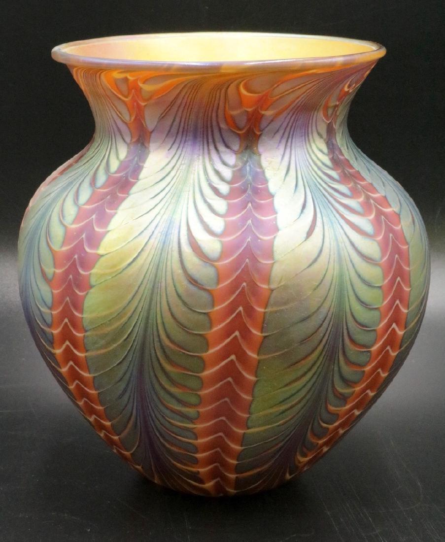 Lundberg Studios Iridescent Art Glass Vase