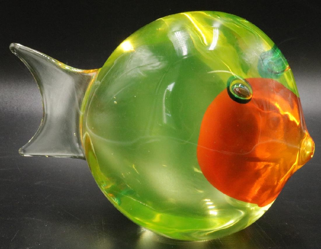 Vintage Italian Murano Art Glass Fish