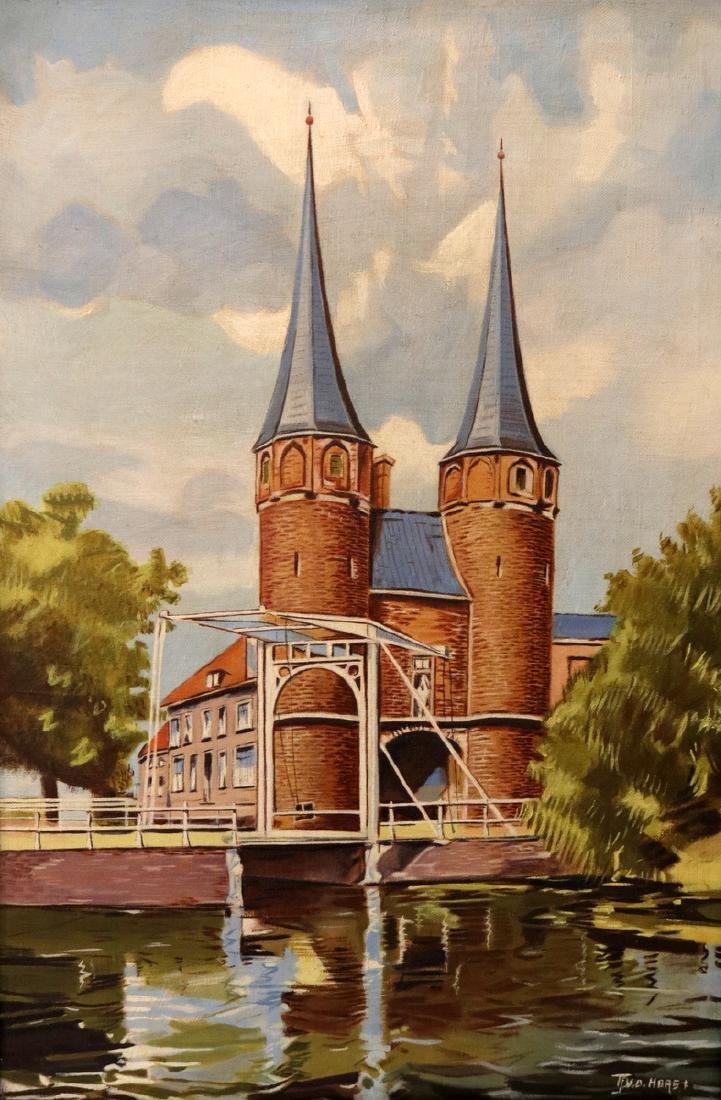 Late 19th C. Dutch Oil on Canvas
