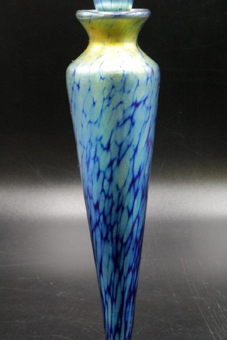 Art Glass Iridescent Perfume Bottle - 2